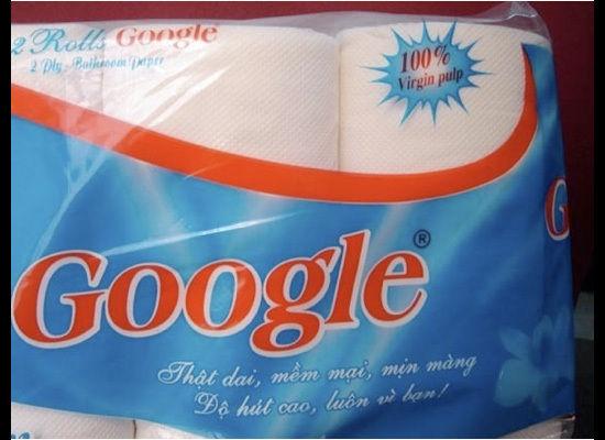 Туалетний папір Google