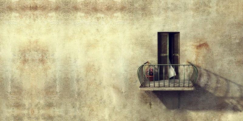 Посмотрите на себя с балкона